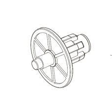 Гильза с цапфой для рулонных штор 35мм M1025