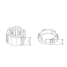 Адаптер + переходник M2315-01 35 мм
