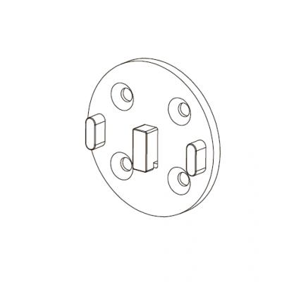Адаптер для рулонных штор 35 мм M3628