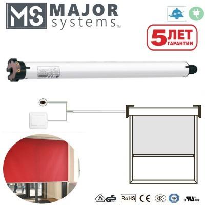 Рулонные шторы с электроприводом MAJOR SYSTEMS MSER40Q (фазное управление)