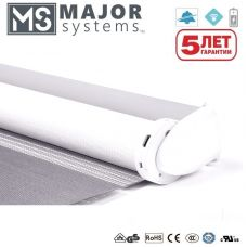 МИНИ рулонные шторы с электроприводом MAJOR SYSTEMS MJ15EU/0.3/30 (RF) (встроенная акб.)